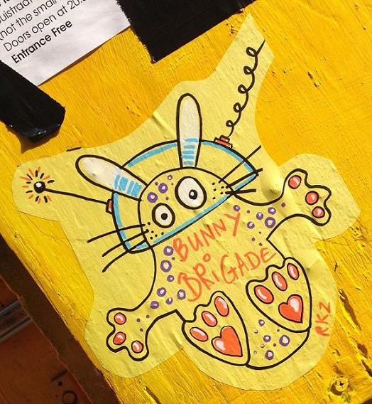 sticker Bunny Brigade Amsterdam Spuistraat 2013 September astronaut konijn