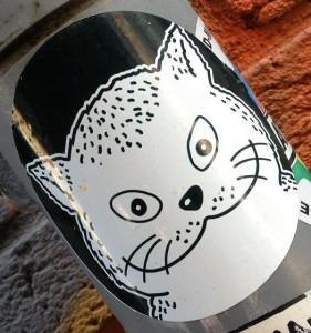 sticker El Gato Amsterdam Spui 2013 street art