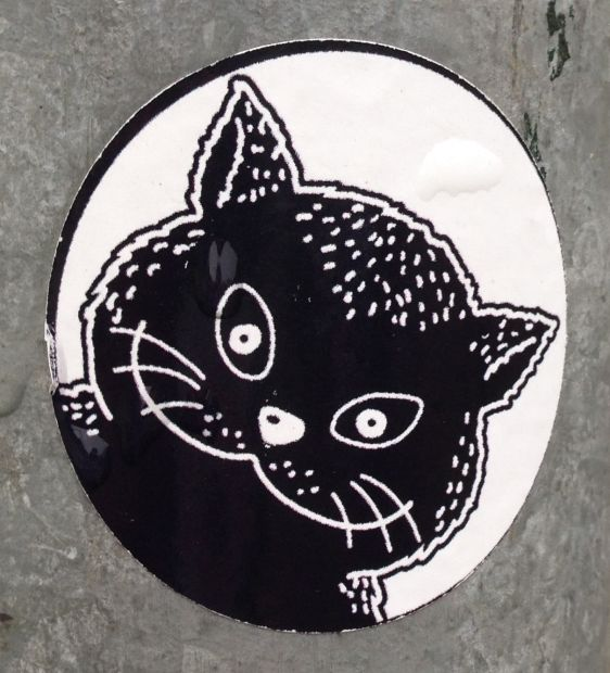 sticker El Gato Volendam Holland 2013 December cat kat
