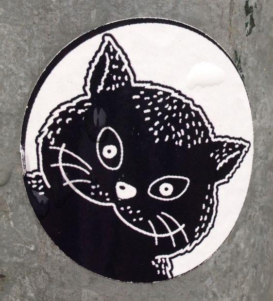 sticker El Gato Volendam Holland 2013 December cat kat