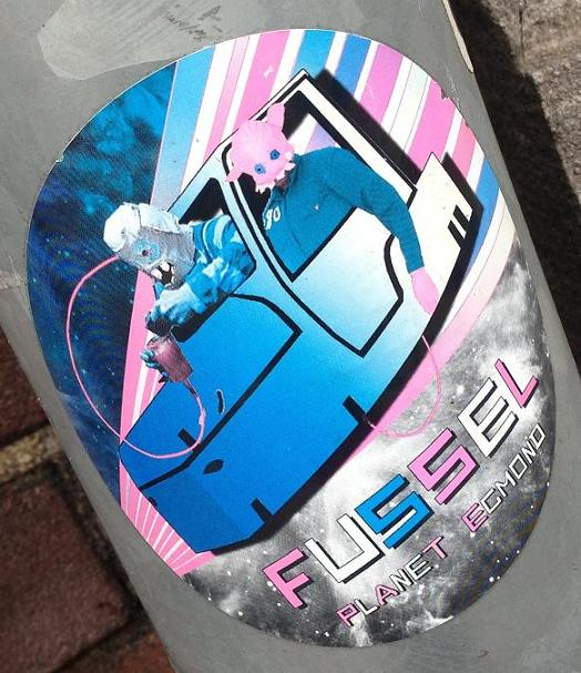 sticker Fussel planet Egmond Amsterdam center 2013 September