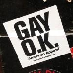 sticker Gay o.k. Amsterdam center August 2013