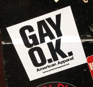 sticker Gay o.k. Amsterdam center August 2013