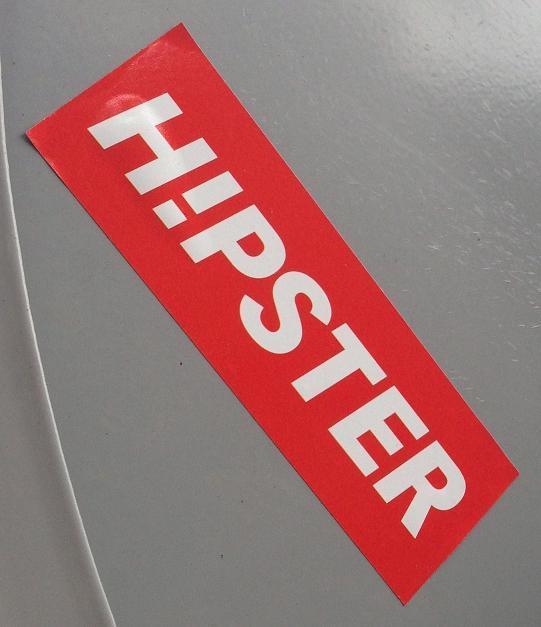 sticker Hipster Amsterdam center 2013 September