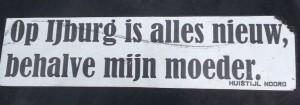 sticker Huisstijl Noord Amsterdam 2013 September ijburg nieuw behalve moeder
