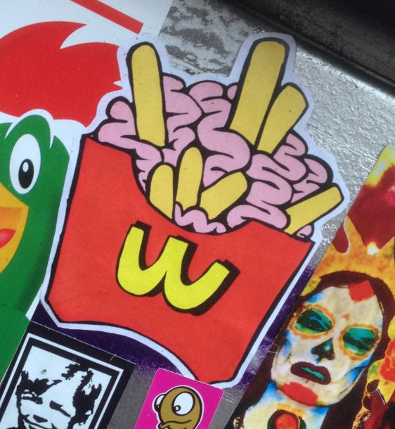 sticker Isoe Amsterdam 2015 Januari french fries frietjes patat