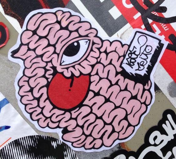 sticker Isoe brains 2014 June Amsterdam North NDSM hersenen oog