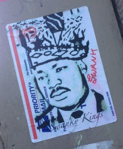 sticker Martin Luther King Amsterdam December 2013 Swanky Kings