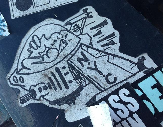 sticker N.Y.C. fighter jet Amsterdam Center 2013 August