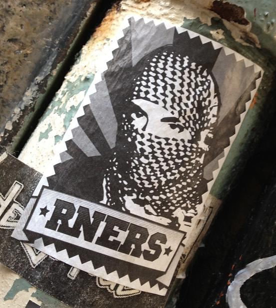 sticker RNERS Amsterdam center 2013 August terrorist