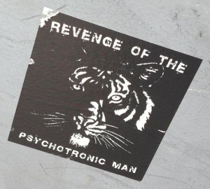 sticker Revenge psychotronic man Amsterdam center 2013 September tiger