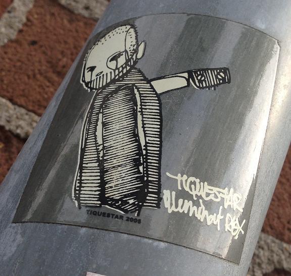 sticker Tiquestar 2005 Amsterdam center 2013 September knife in back