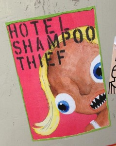 sticker Tommy ForeverYoung Amsterdam 2013 September hotel shampoo thief