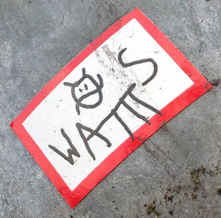 sticker Wams cat Amsterdam center 2013 September kat poes