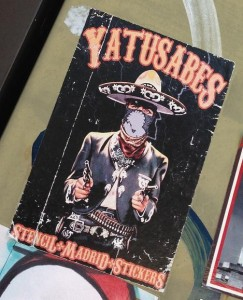 sticker Yatusabes pistolero Amsterdam North 2013 September cowboy