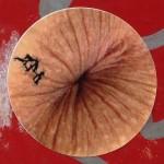 sticker ass butthole Amsterdam center September 2013 anus