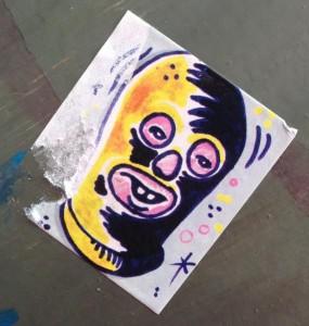 sticker bivakmuts Amsterdam center August 2013