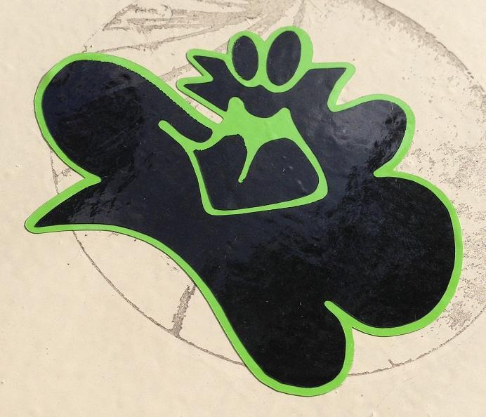 sticker clouds wolken Amsterdam 2013 groen zwart