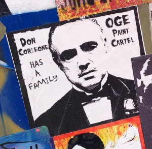 sticker don Corleone has a family Amsterdam North 2013 September oge paint cartel