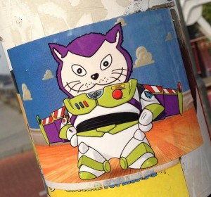 sticker el Gato astronaut Middelburg 2013 September