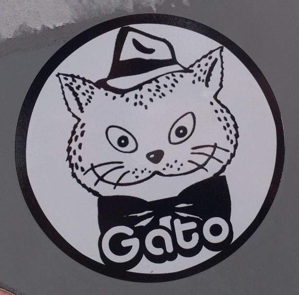 sticker el Gato katMiddelburg 2013 September kat Gato