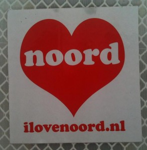sticker i love Noord Amsterdam 2012