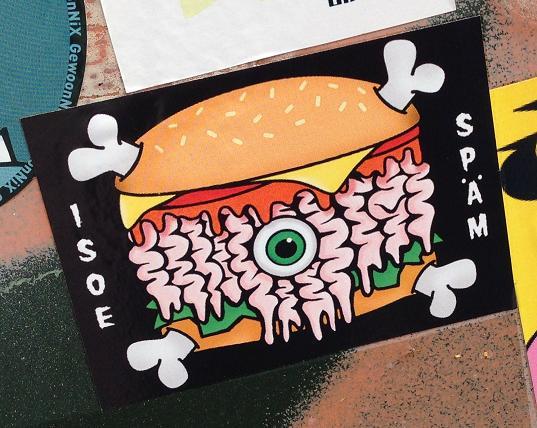 sticker isoe Späm hamburger Amsterdam east 2013 September