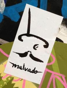 sticker man hat moustache Amsterdam center September 2013