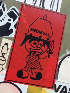 sticker medieval marijuana Amsterdam North 2013 September girl sword
