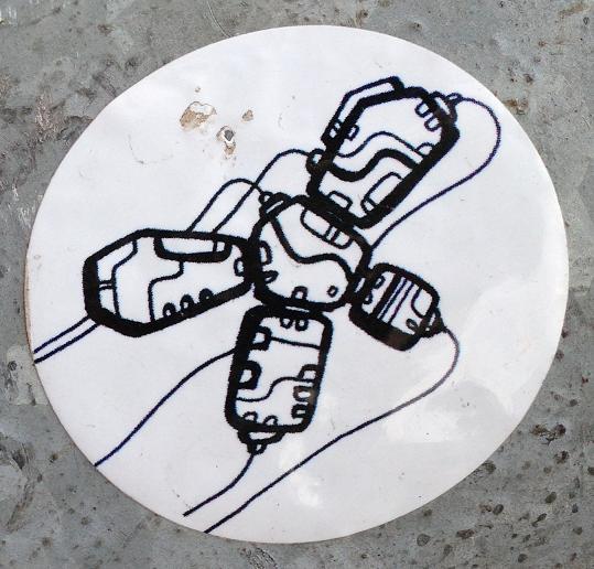 sticker robot Amsterdam center 2013 September