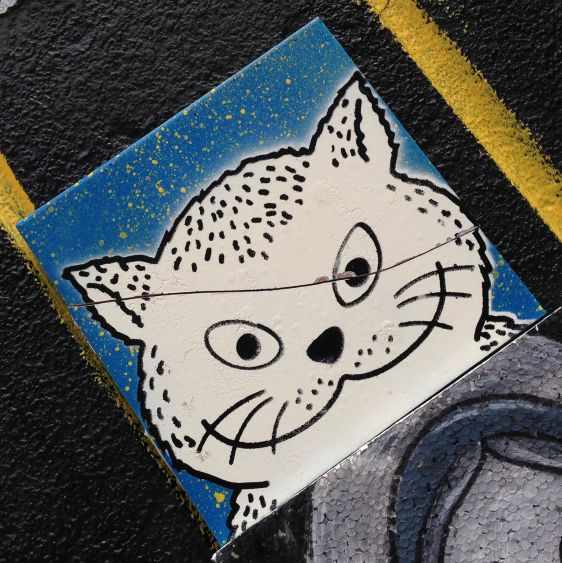 tegel El Gato 2014 May Amsterdam Center tile cat