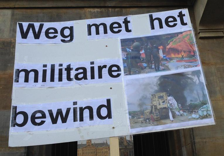 Egypte demonstratie weg met militair bewind Amsterdam center 2013 September