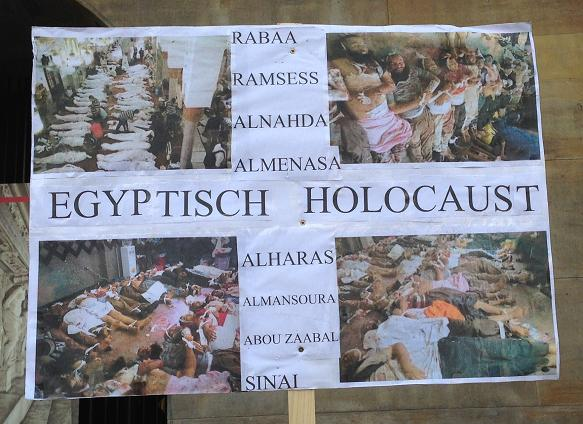 Egyptisch Holocaust demonstratie Amsterdam center 2013 September