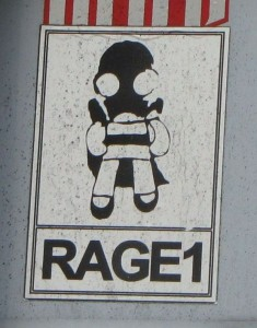 Rage1 sticker girl skirt Baltics 2012 September kind meisje