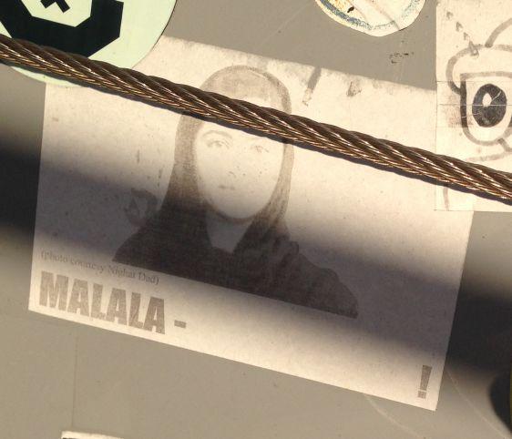 Sticker Malala Yousafzai Amsterdam ndsm 2013 December Afghanistan