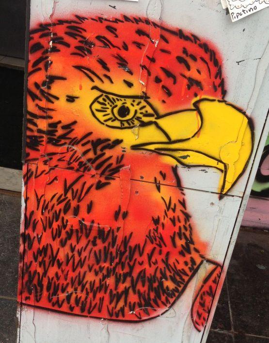 graffiti eagle Amsterdam center 2013 September adelaar