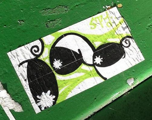 sticker APC  Amsterdam 2013 September green cyclops multiple