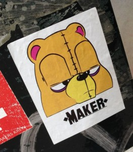 sticker Maker bear Amsterdam center August 2013 religion