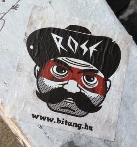 sticker Rose Bitang.hu Amsterdam center 2013 August criminal