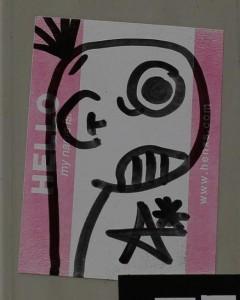 sticker Sta APC Amsterdam Leidseplein August 2012 Maarten Brante foto