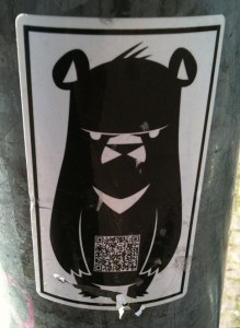 sticker angry bear Amsterdam 2012 beer boos