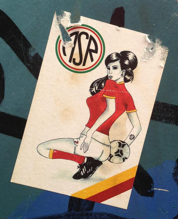 sticker asr woman football Amsterdam center August 2013 vrouw voetbal