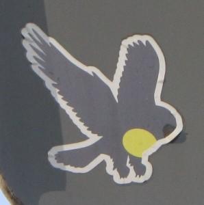 sticker bird Baltics 2012 owl bird of prey_kl
