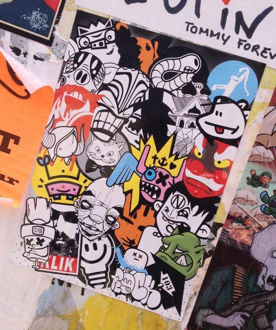 sticker collab Amsterdam North 2013 September Klik Oo Minus Gato Reus Popcorn Narcoze