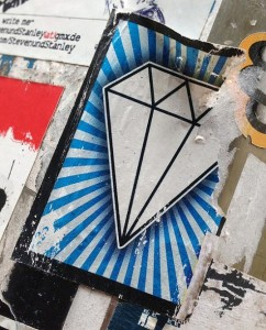 sticker diamant Edelsteen Amsterdam center September 2013 diamond