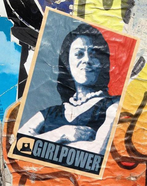 sticker girlpower Amsterdam Michelle Obama