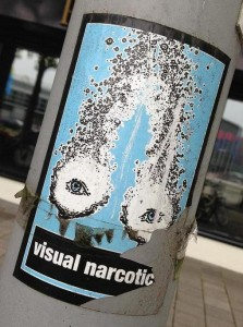 sticker visual narcotic Amsterdam 2013 August eyes ogen