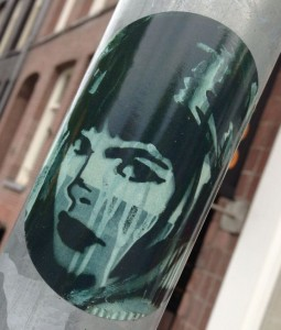 sticker woman Amsterdam 2013 girl vrouw female