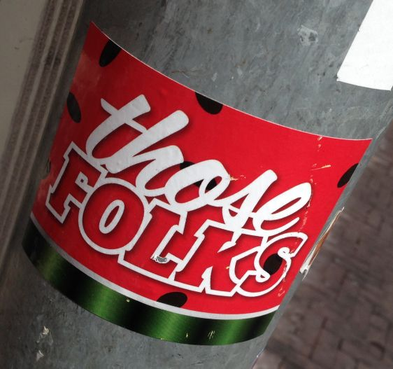 sticker Those Folks Amsterdam center 2014 July culture tradition
