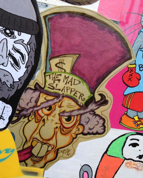 Sticker the mad slapper Amsterdam ndsm 2013 December man hat dollars